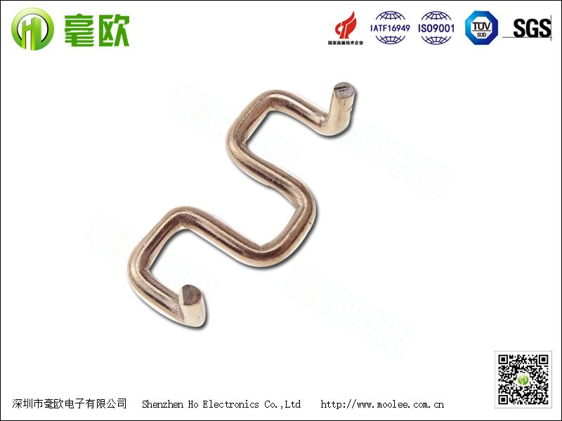 锰铜分流器 M型折脚锰铜电阻 康铜电阻插件电阻1.5mm10毫欧