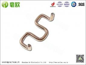 苏州锰铜分流器 M型折脚锰铜电阻 康铜电阻插件电阻1.5mm10毫欧