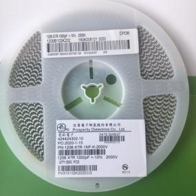 信昌贴片电容1206-X7R-1NF-10%-1000V 高压电容 现货 原装正品